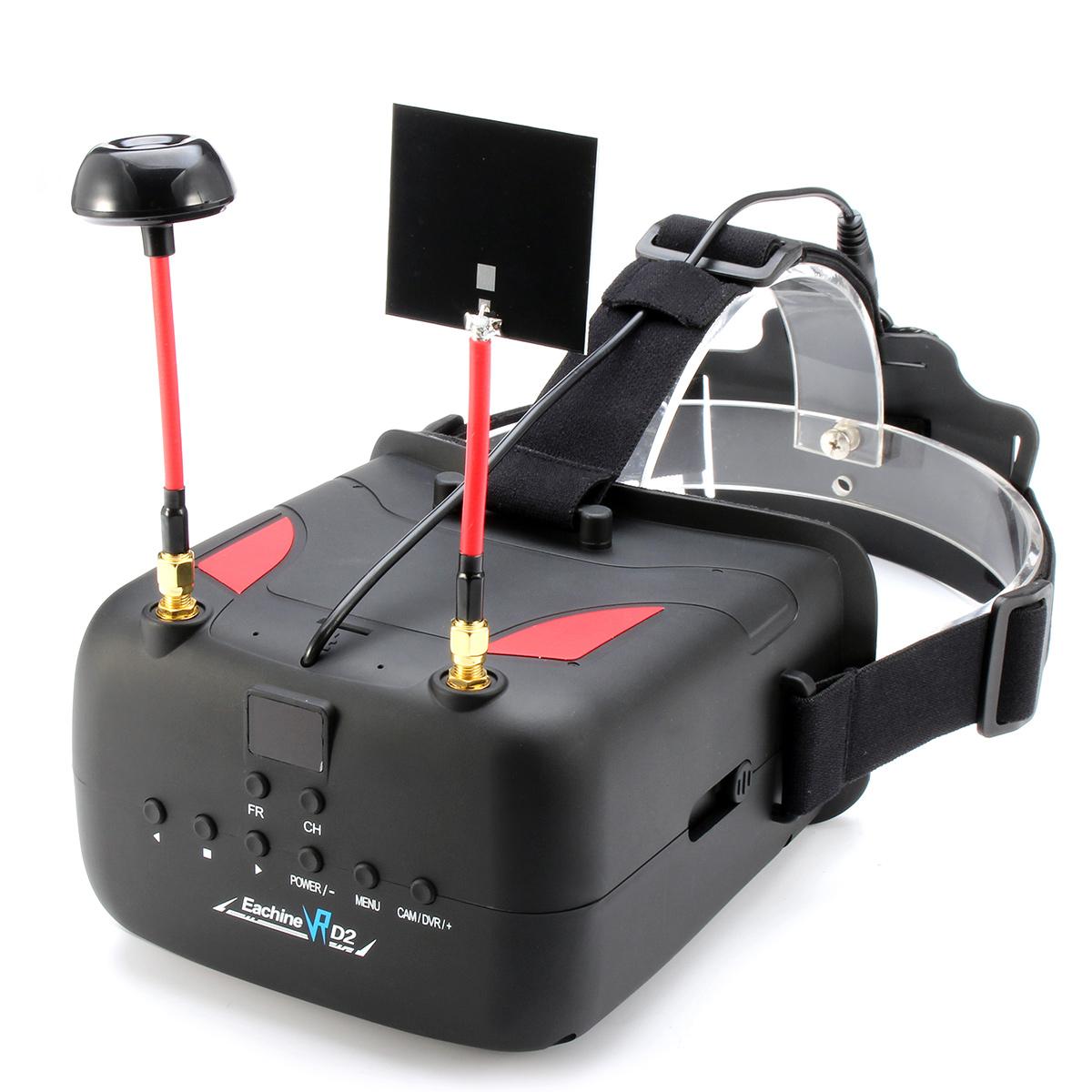 Eachine VR D2 5 Inches 800*480 40CH Raceband 5.8G Diversity FPV Goggles with DVR Lens Adjustable - SNHE