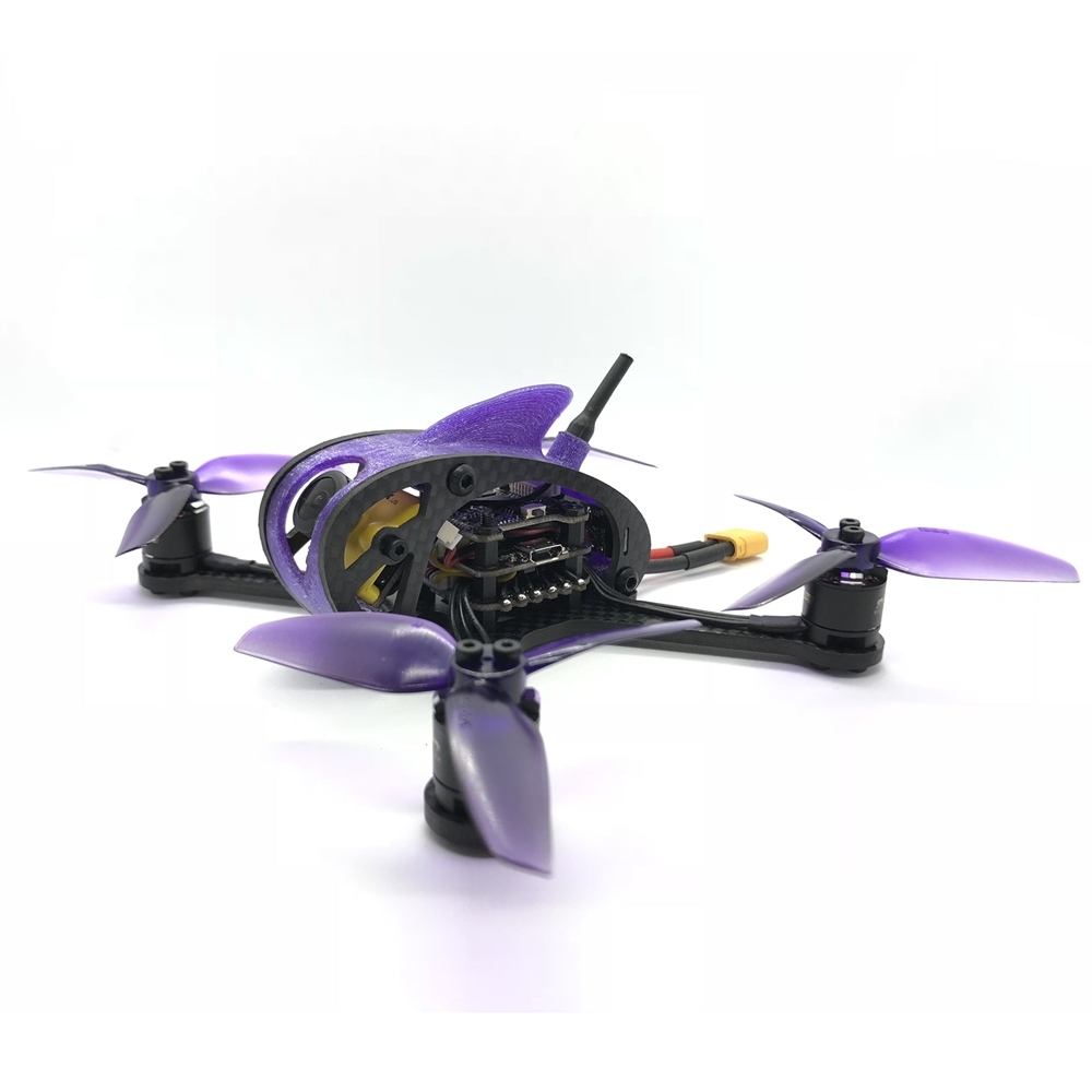 Full Speed RC Leader <b>3SE(w/Canopy)</b> FPV Racing Drone - <b>BLACK</b> <b>BNF DSM</b> <font color=&quot;red&quot;><b>w/ C2 Motors</b></font> - SNHE