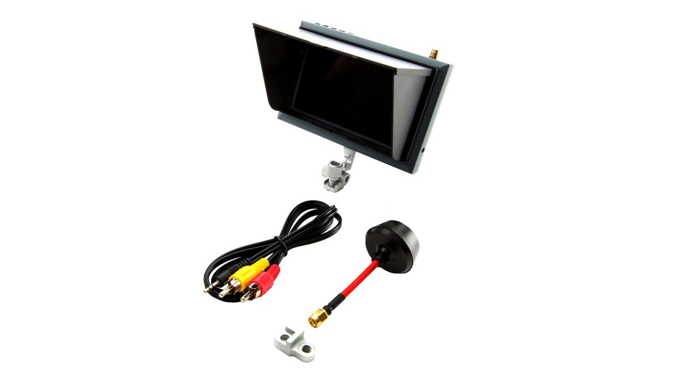 Spektrum 4.3 Inch FPV Video Monitor with Sunshade and Mount - SNHE