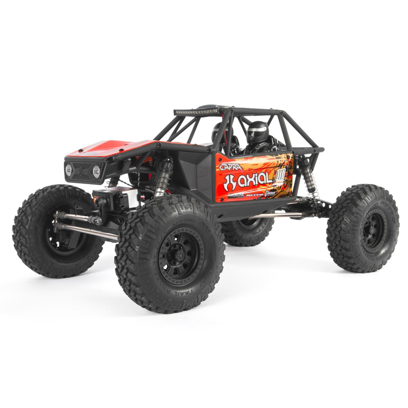 Axial Racing 1/10 Capra 1.9 Unlimited 4WD RTR Trail Buggy, Red
