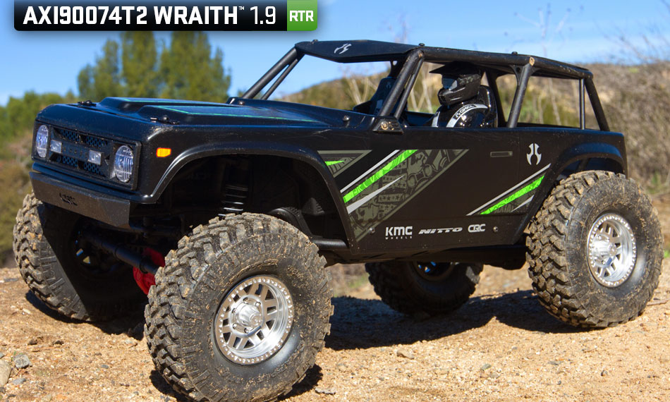 Axial Racing 1/10 Wraith 1.9 4WD Brushed RTR, Black