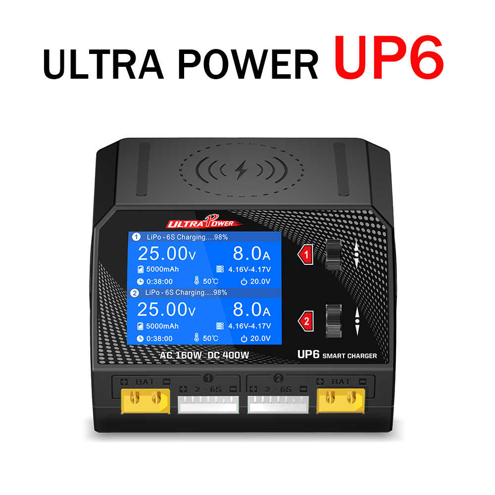 Ultra Power UP6 400W 10A Smart Dual Channel AC/DC Charger