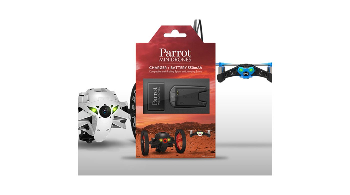Parrot External Battery Charger & Battery: Sumo & Spider - SNHE