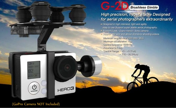 Walkera G-2D 2 Axis Brushless Camera Gimbal For Gopro 3 - SNHE
