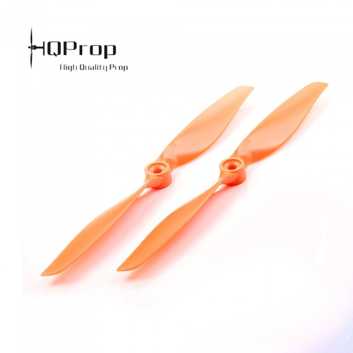 HQ Prop Slow Flyer 7040 Propeller (1 CW, 1 CCW) - <font color=&quot;orange&quot;><b>Orange</b></font> - SNHE